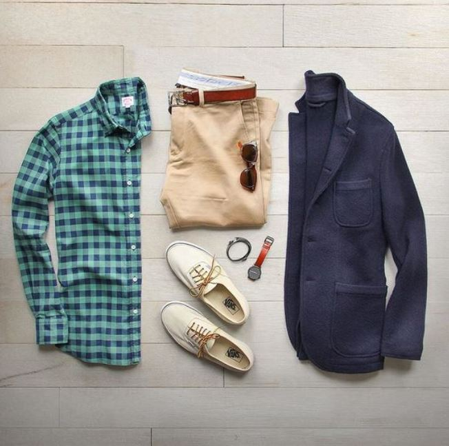 To show personality through accessories, choose unique socks, belt, watch, pocket square. Don't try to do too much, the key is to be confident.