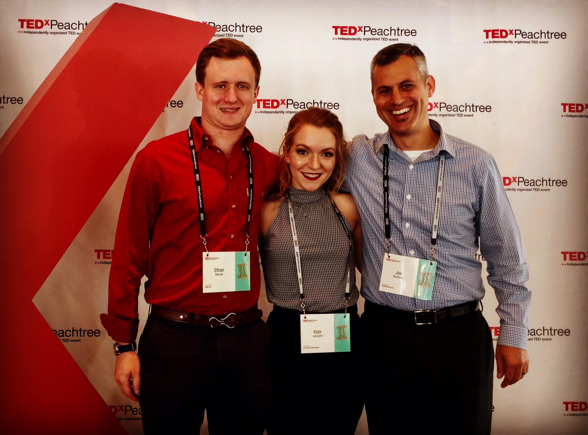 Ethan Parrish, Kate Jacoutot, Joe Koufman - AgencySparksteam at TEDxPeachtree