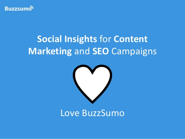 Social insights for content marketing and SEO campaigns - BuzzSumo