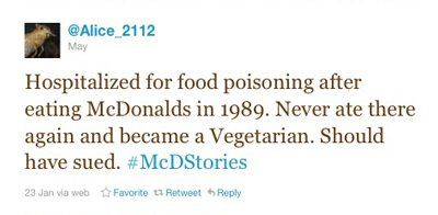 Twitter users were unmerciful when #McDStories started trending.