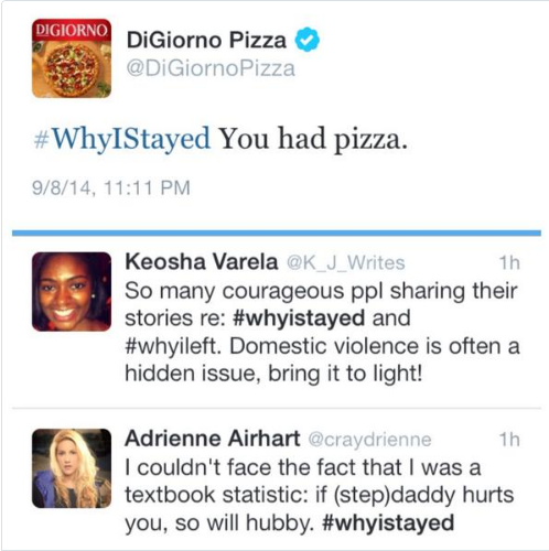 DiGiorno Social Media Fail - #WhyIStayed