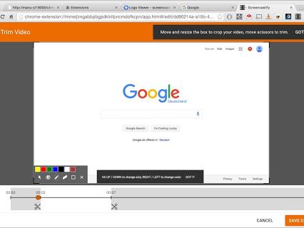 Screencastify User Interface