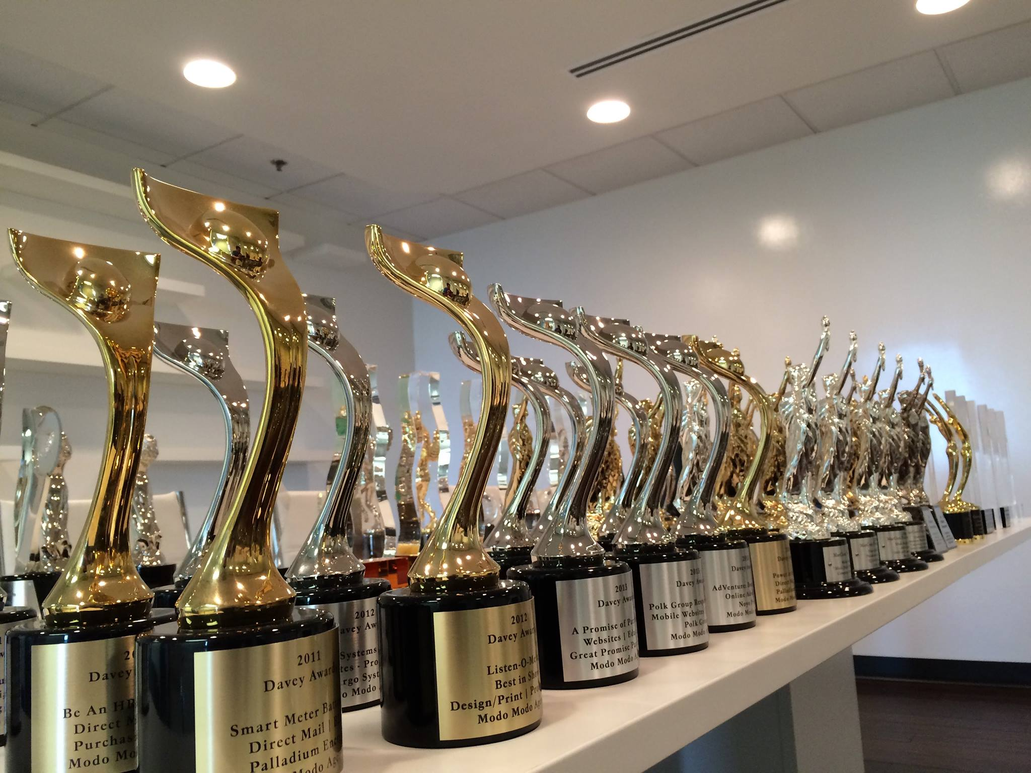 Modo Modo Agency, AgencySparks' creative marketing agency, regularly leverages awards as a means to establish credibility with potential clients.