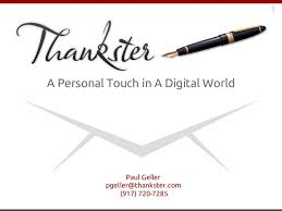 Thankster - personal touch in a digital world