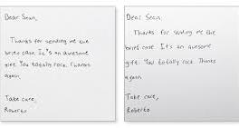 Custom handwriting from thankster