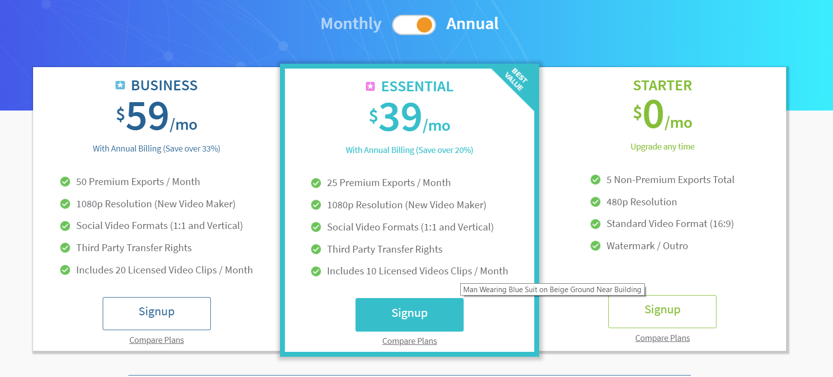 Raw Shorts offers three pricing plans for advanced video editing to improve marketing strategies and methods.