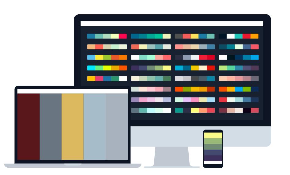 Cooloers creates a color scheme to help build a cohesive brand color scheme.