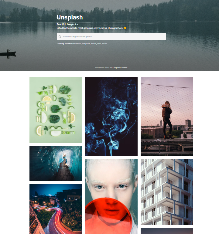 Unsplash is a tool that lets users download royalty-free pictures for marketing materials.