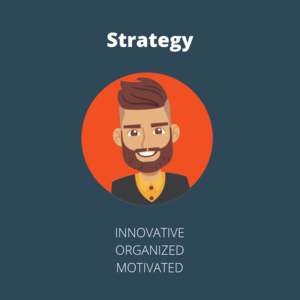The Strategic Department in a marketing agency is goal-focused, motivated, and forward thinking.