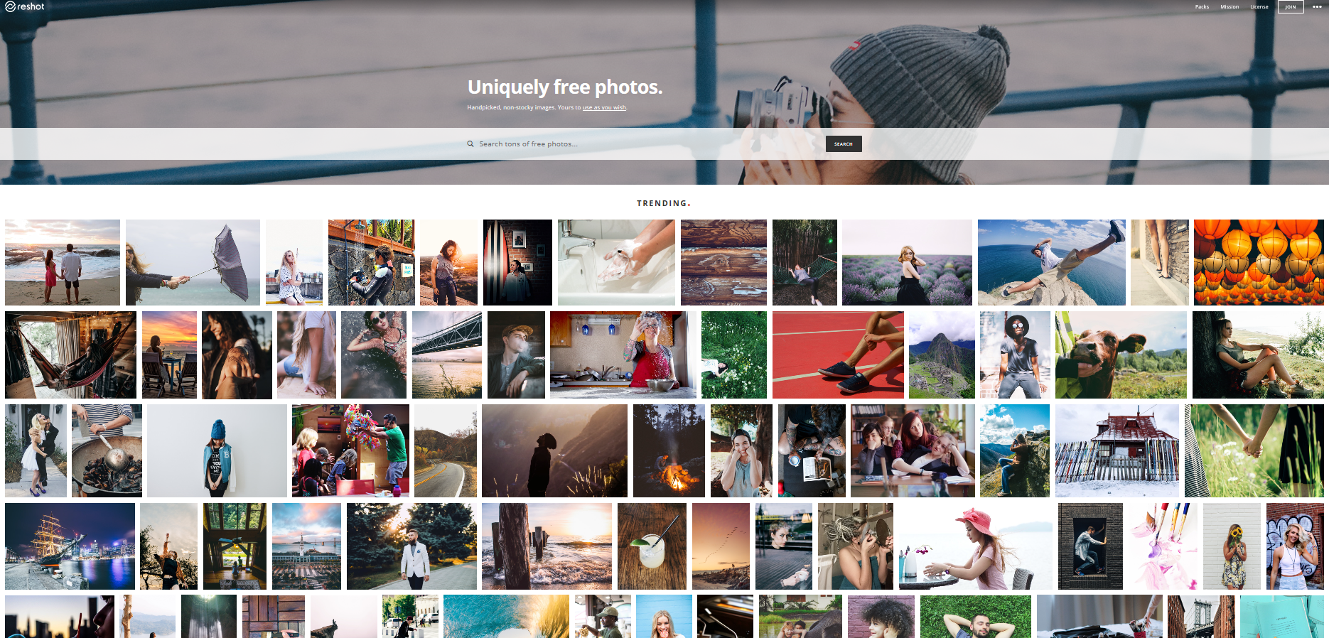 Reshot provides users with a collection of high q