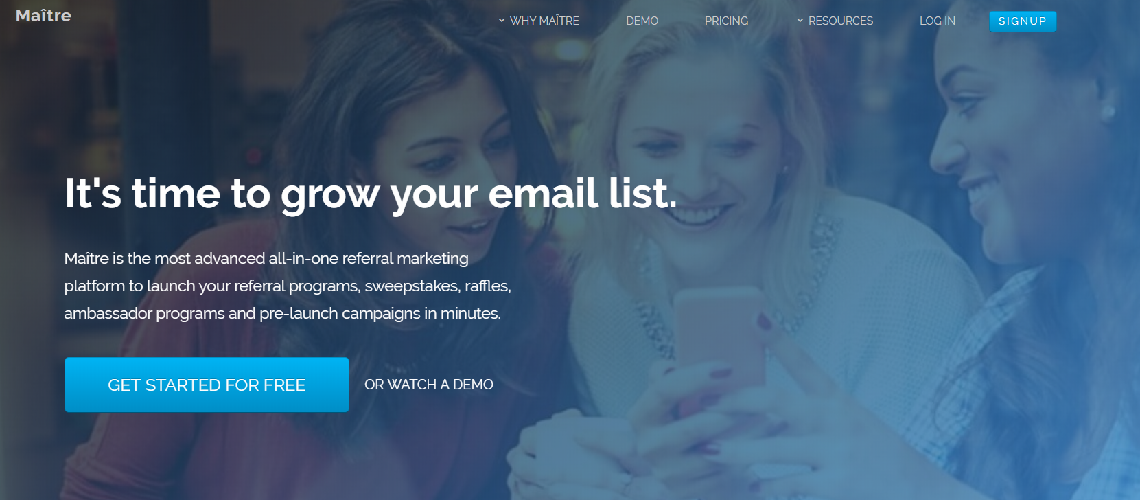 Maitre is a lead generation and on-site retargeting tool to help marketers grow their email lists and consumer base.