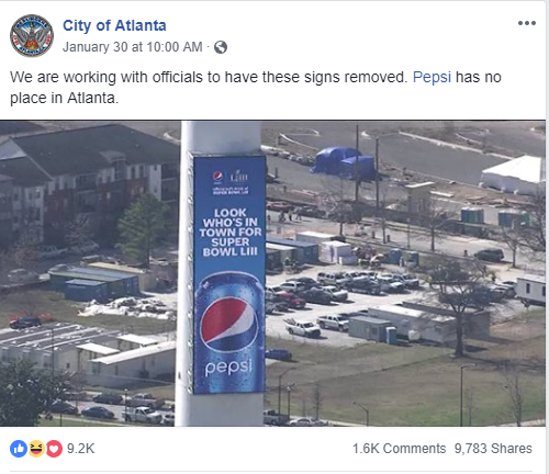 """Parody account """"City of Atlanta"""" had followers laughing to their response to Pepsi being in Coca-Cola's home town."""