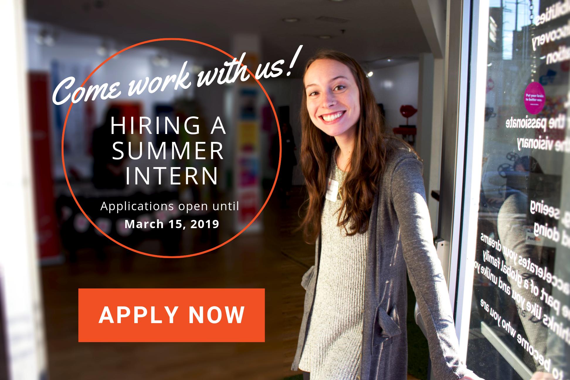 AgencySparks is offering a summer marketing and business development internship.