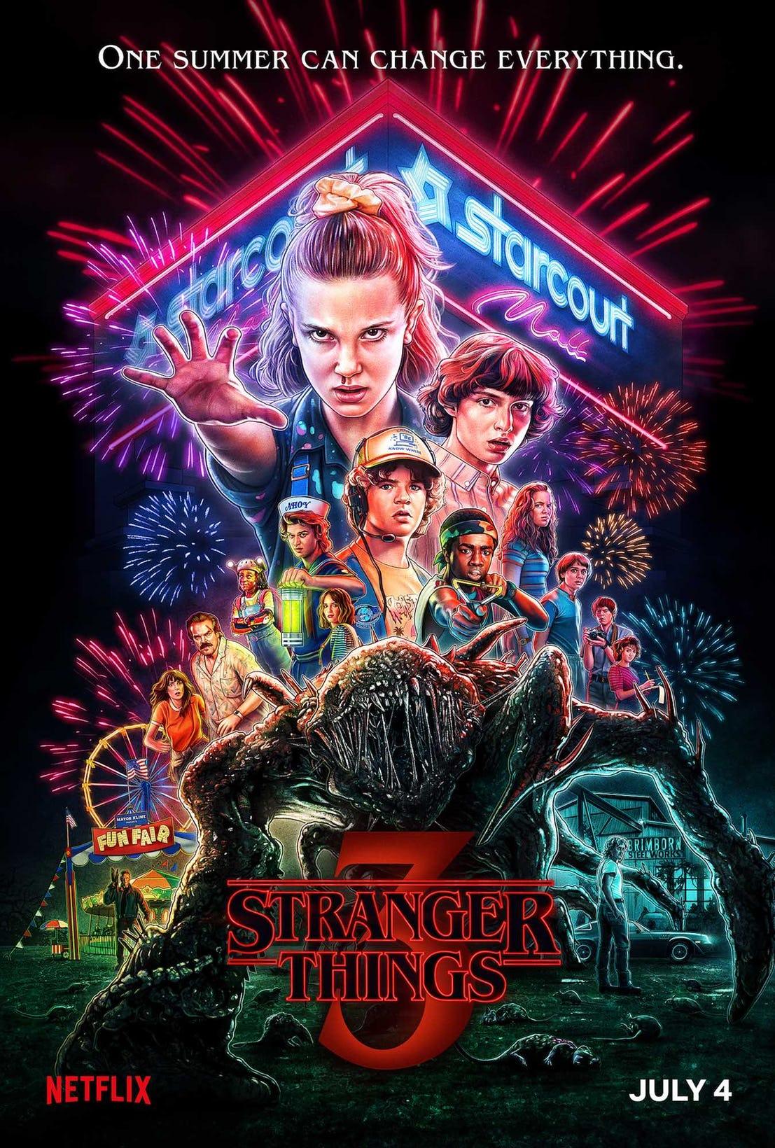The Stranger Things 3 poster.