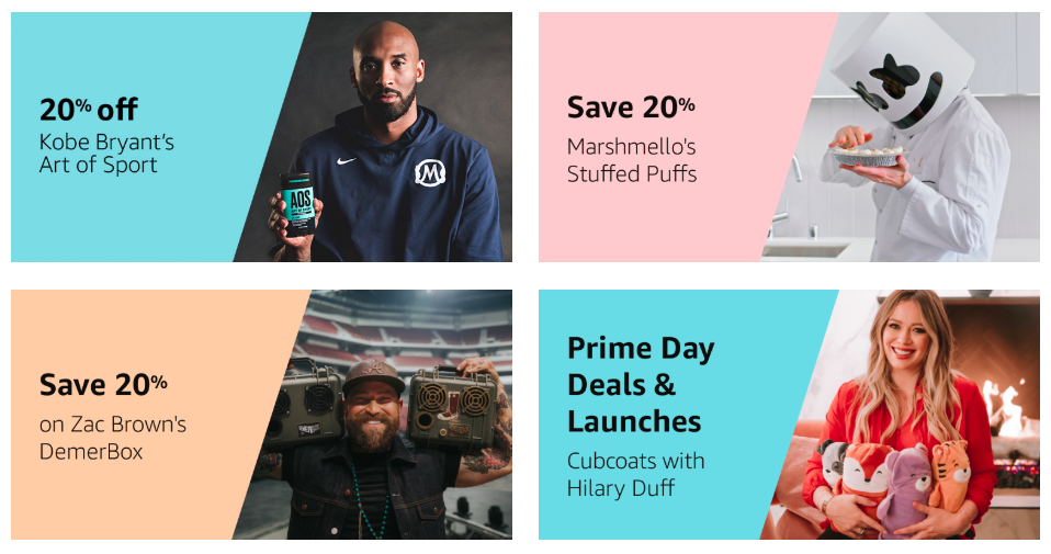 Amazon Prime Day 2019 Celebrity Collaborations