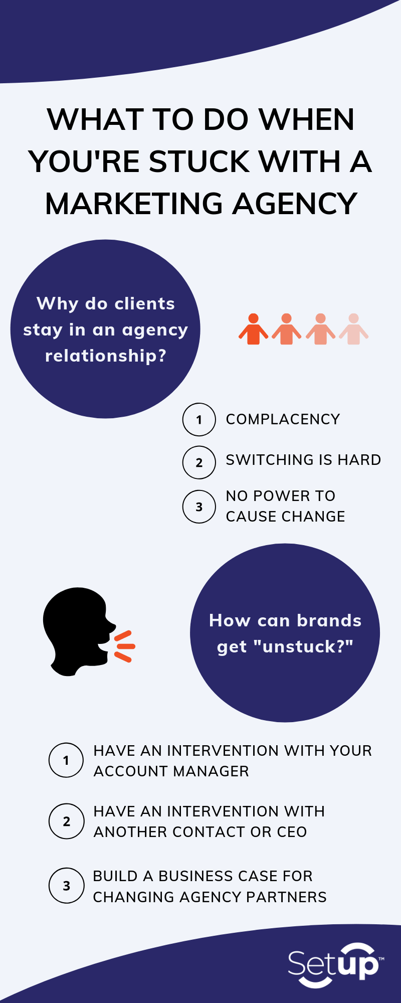 What to Do When You're Stuck with a Marketing Agency