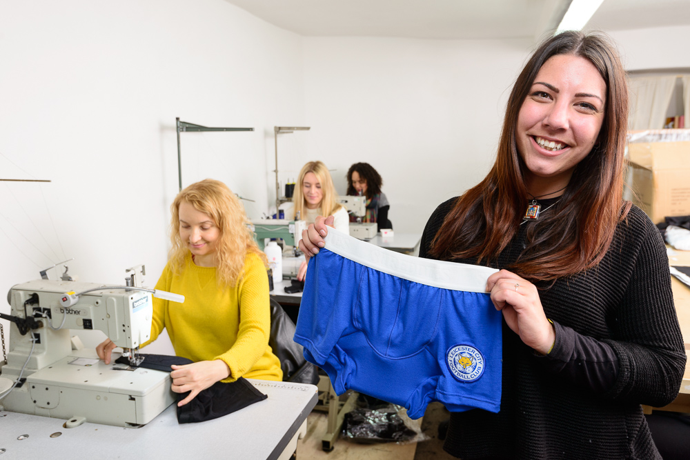 Rachel and our team with Gary Lineker's Pants.