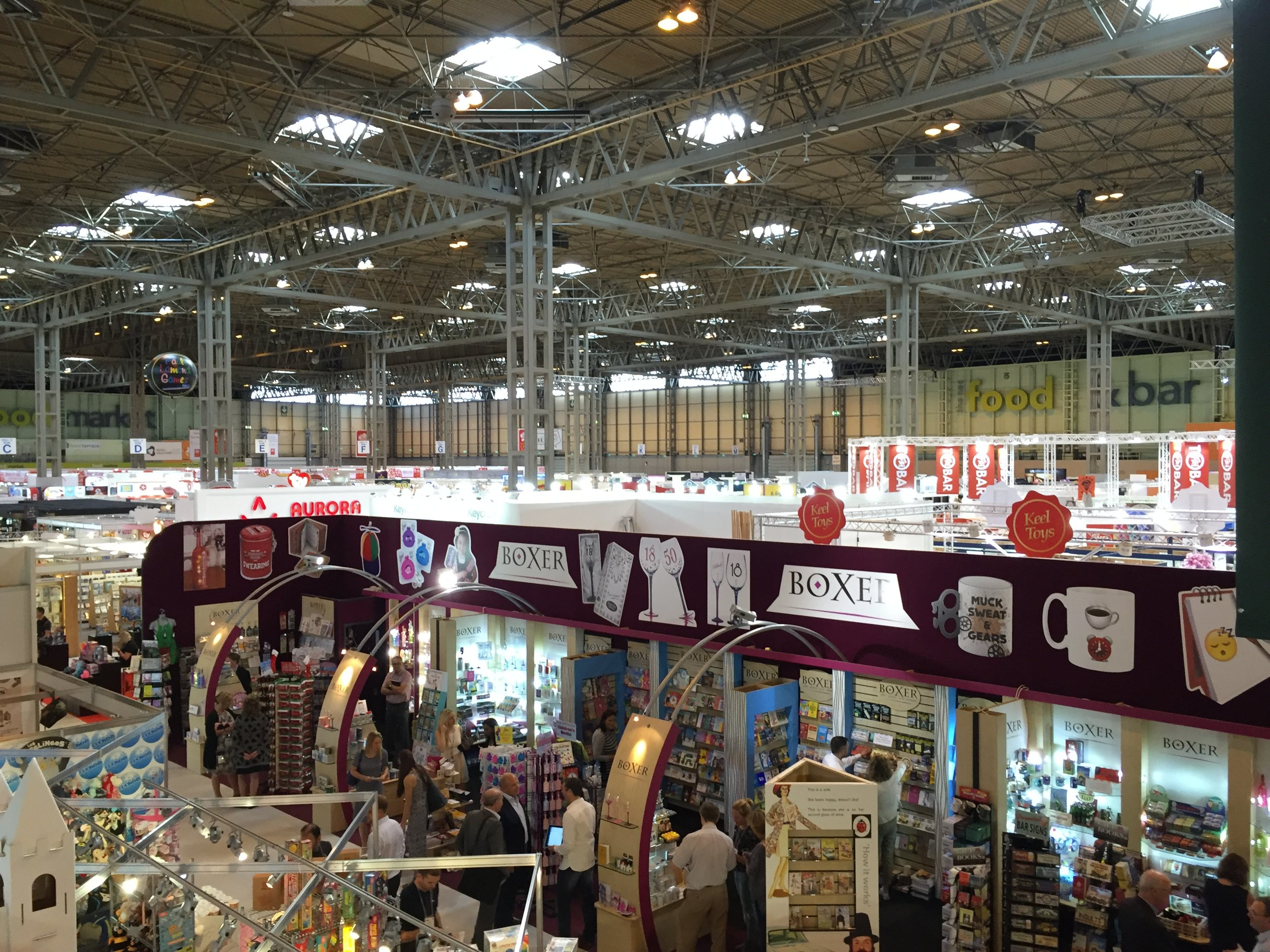 One of the many stalls in Hall 5.