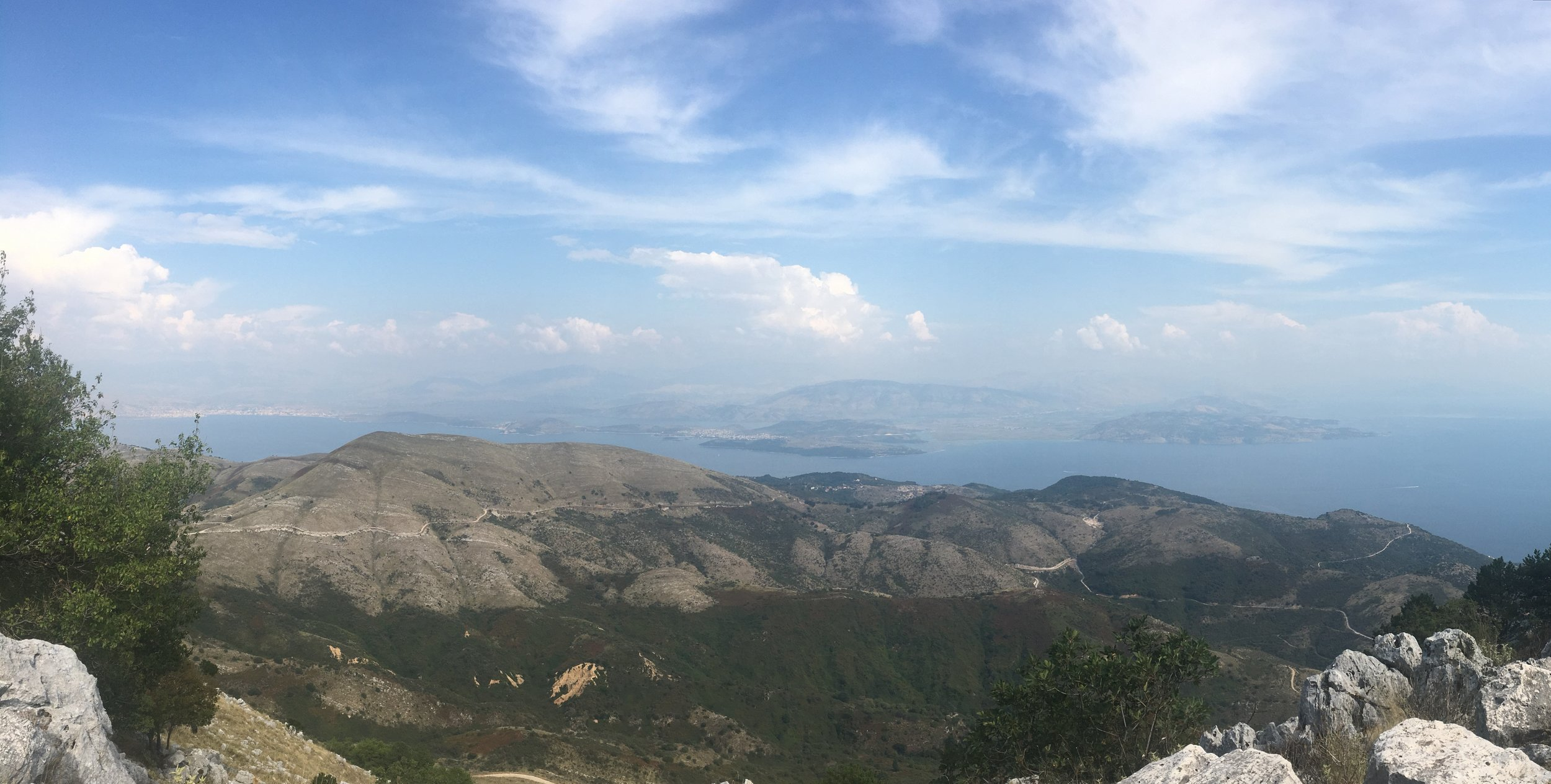 The top of Mount Pantokrator