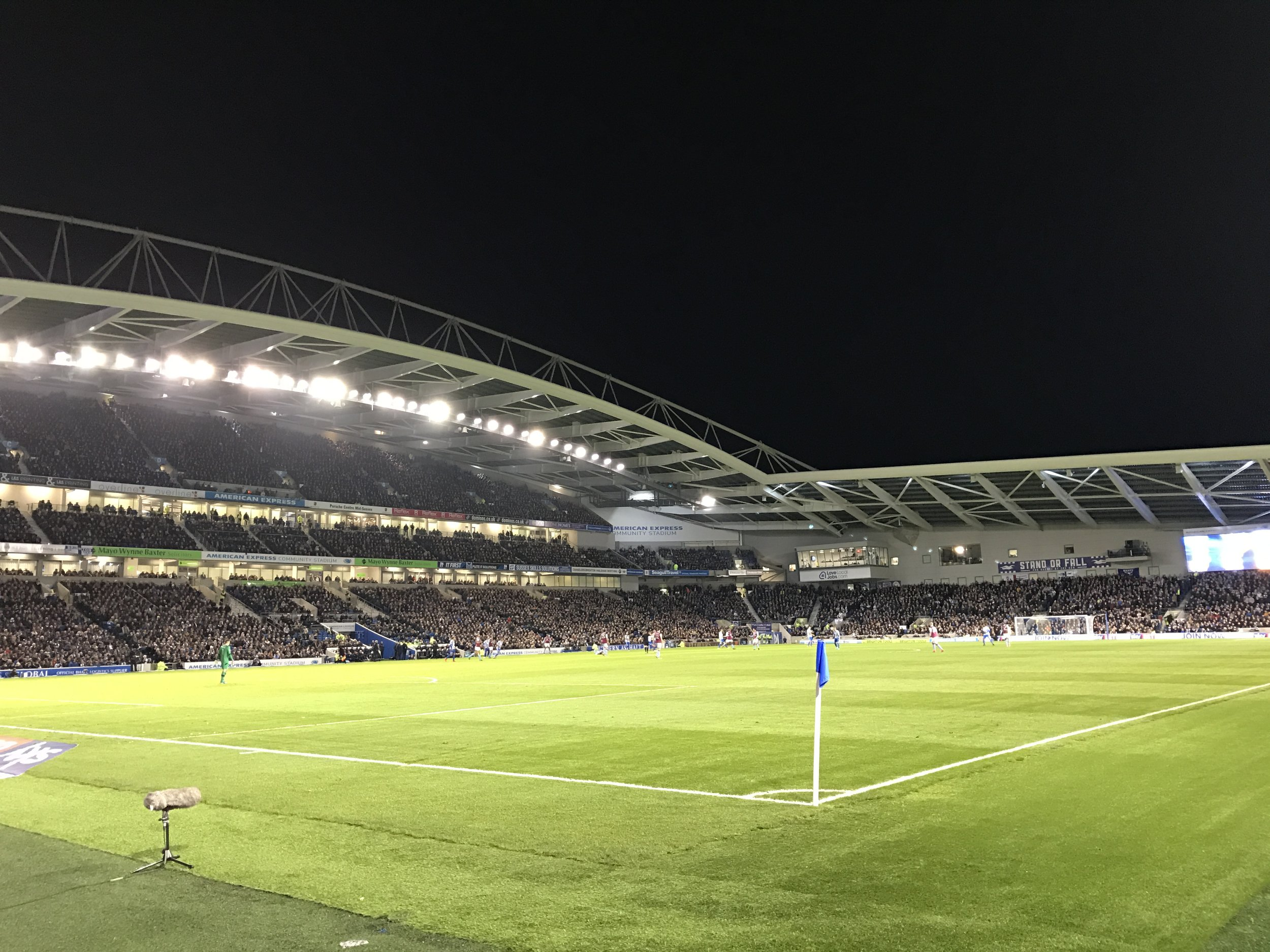 Brighton vs Aston Villa at The Amex Stadium.