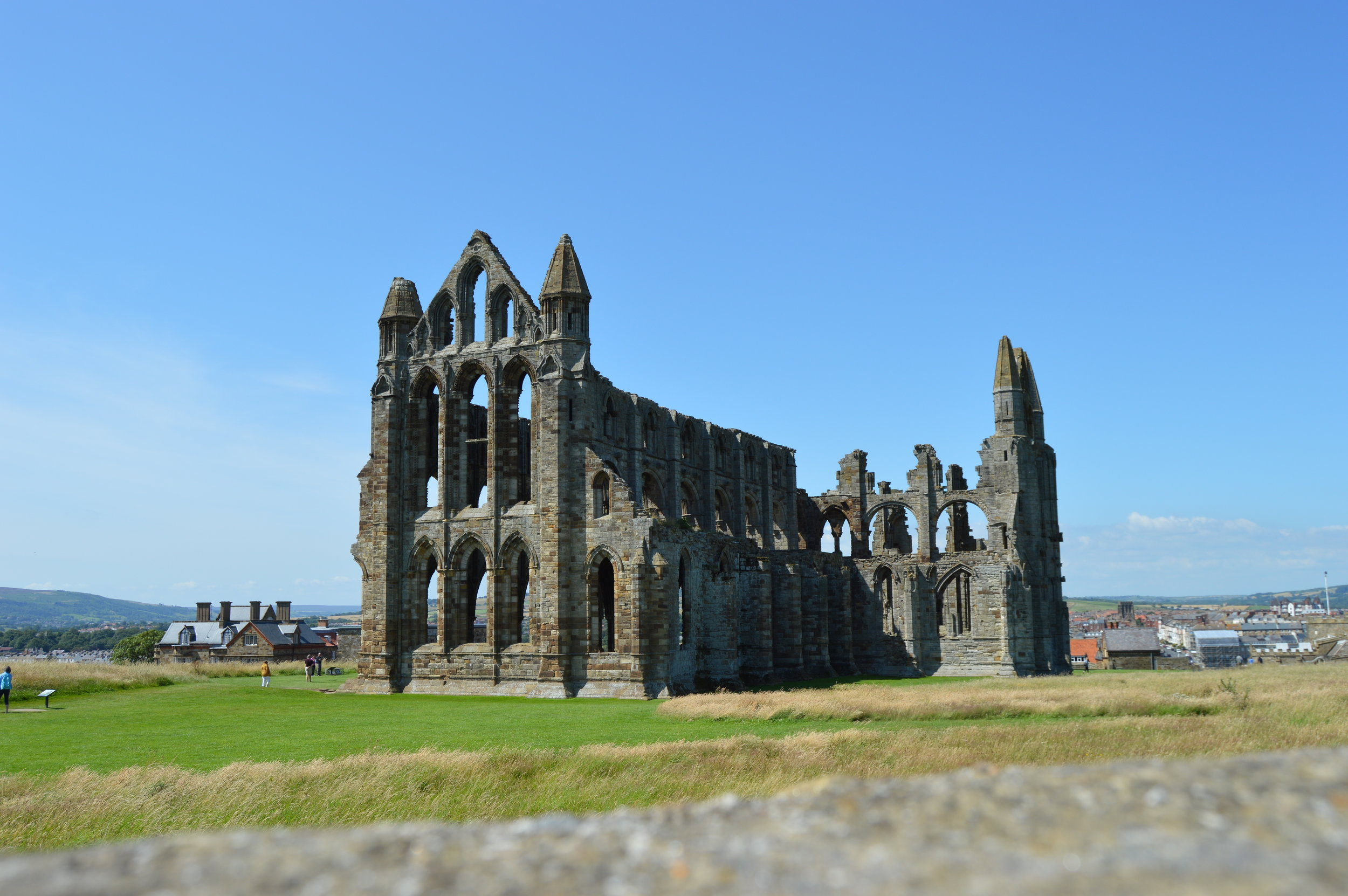 The remains of Whitby Abbey.
