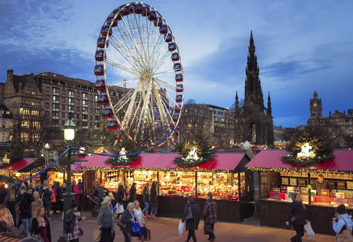 European Christmas Market, Edinburgh. (photo credit: blog.ryanair.com)