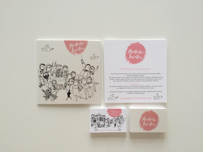 Visitenkarten Frollein Motte Illustration