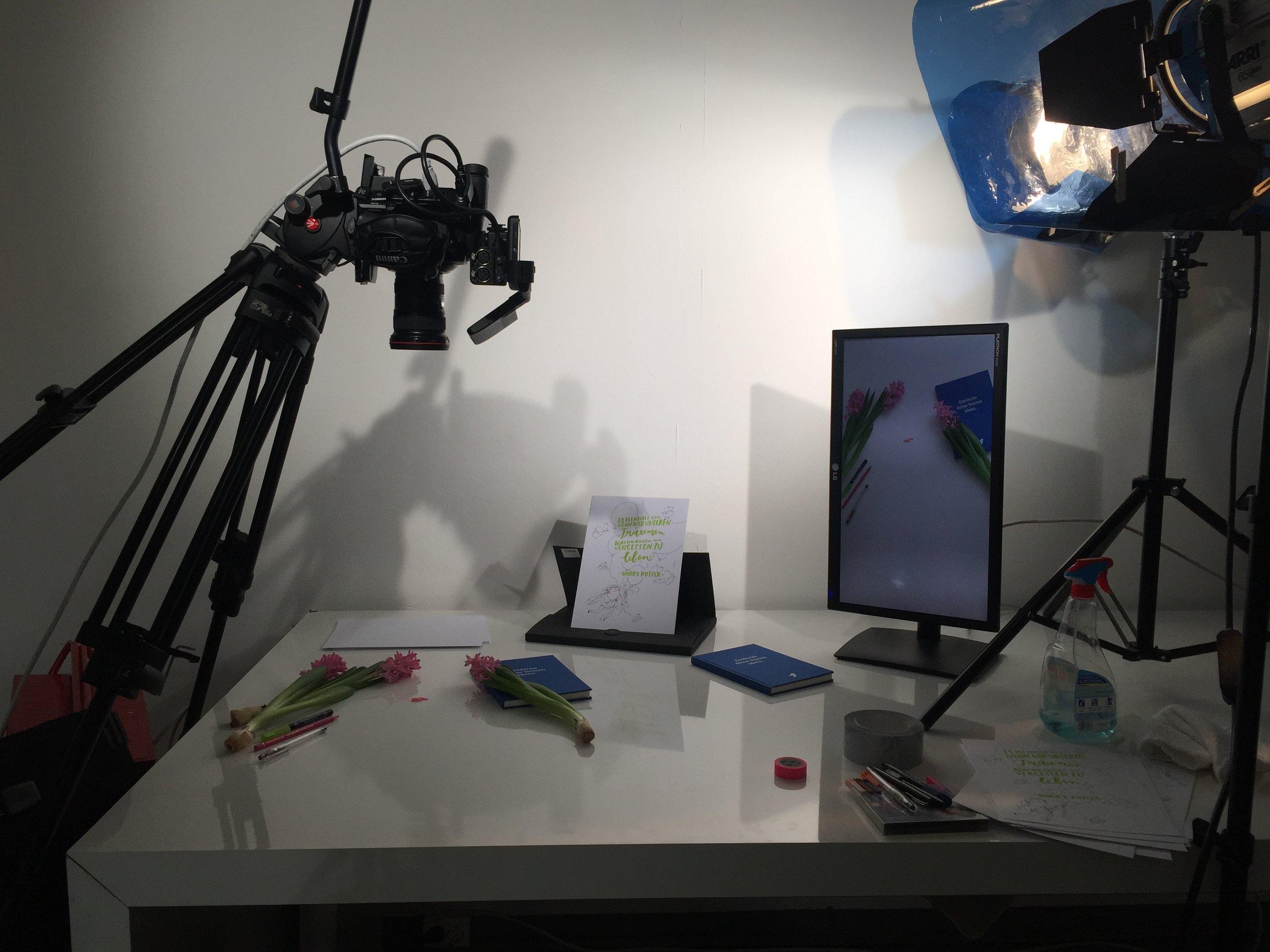 Im Studio von  Full of Grace  in Berlin