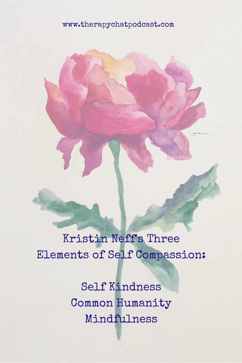 Kristin Neff's Three Elements of Self Compassion
