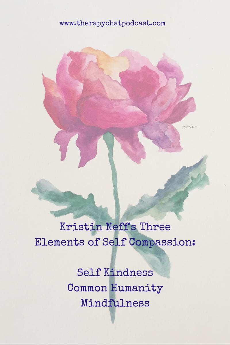 Kristin Neff's Three Elements of Self Compassion