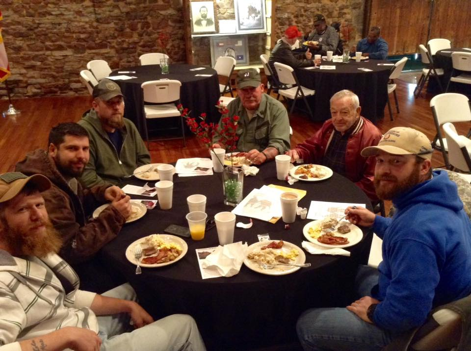 During the breakfast, Fellow Members of the Fort Villanow Veterans Project also took the time to explain the FREE hunting and fishing license that we are currently trying to get passed.