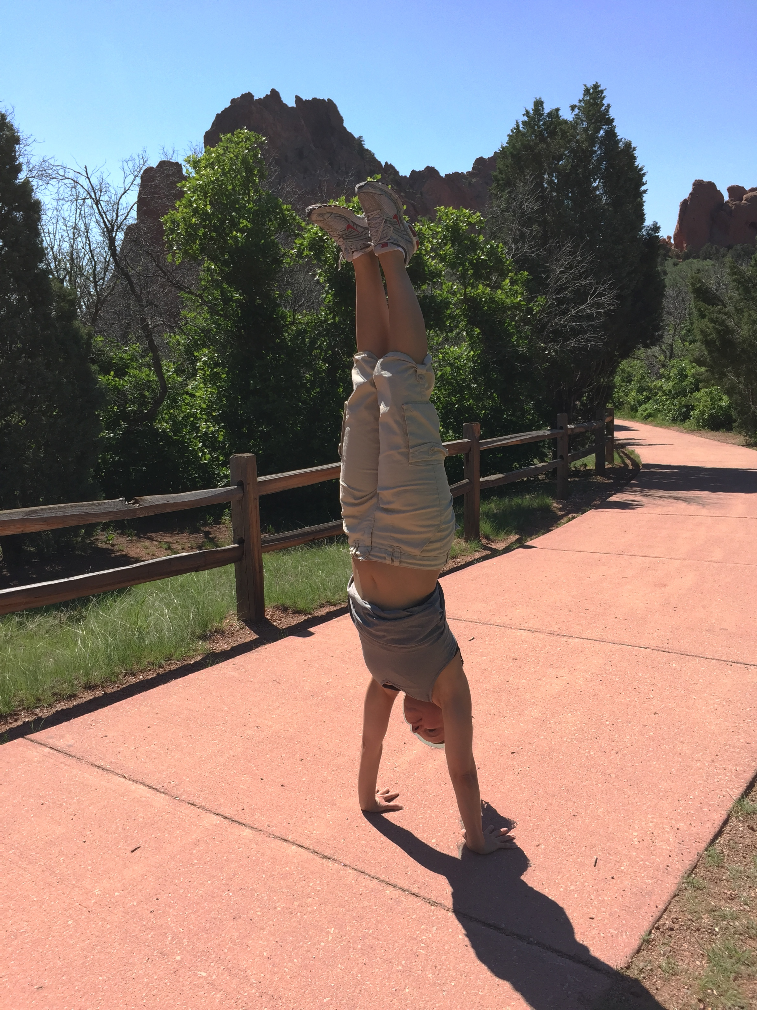 I've always found happiness in handstands!