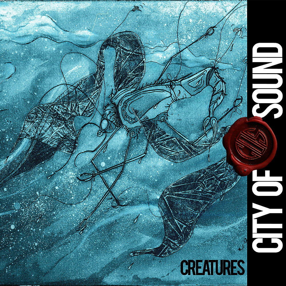 Intaglio Print | Album Art for City Of Sound's second album |   Creatures  | Minneapolis MN  http://cityofsoundband.bandcamp.com