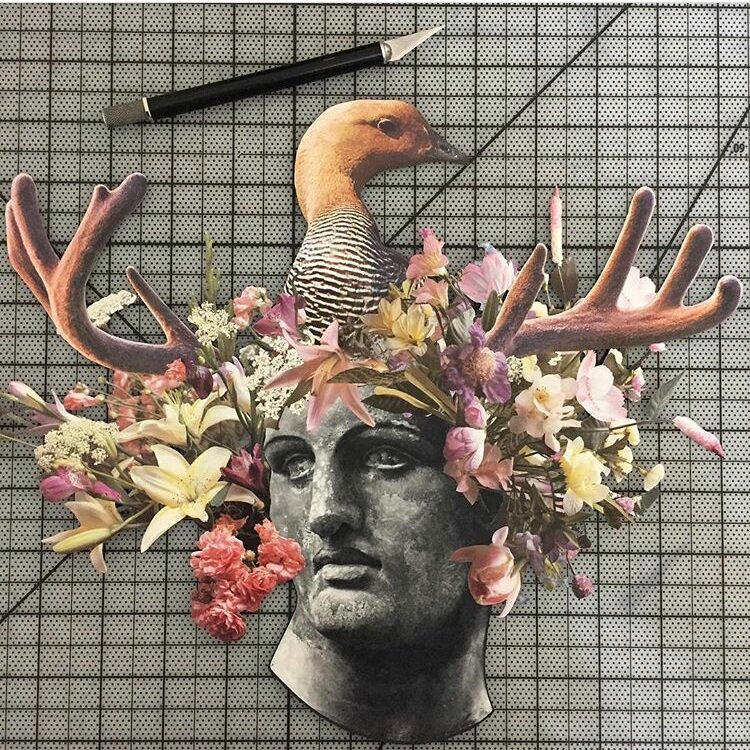 """""""WIP in 2017"""" (Collage work by Jay Riggio - 2017)"""