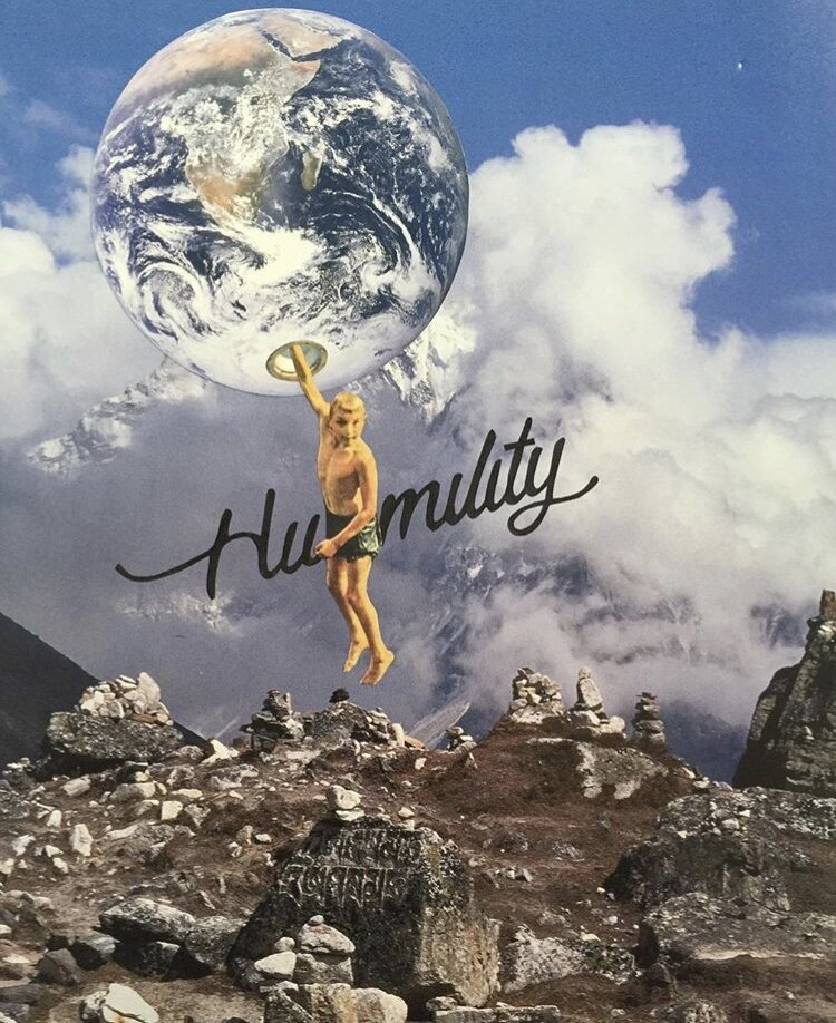 """""""Humility"""" (Collage work by Jay Riggio - 2015)"""