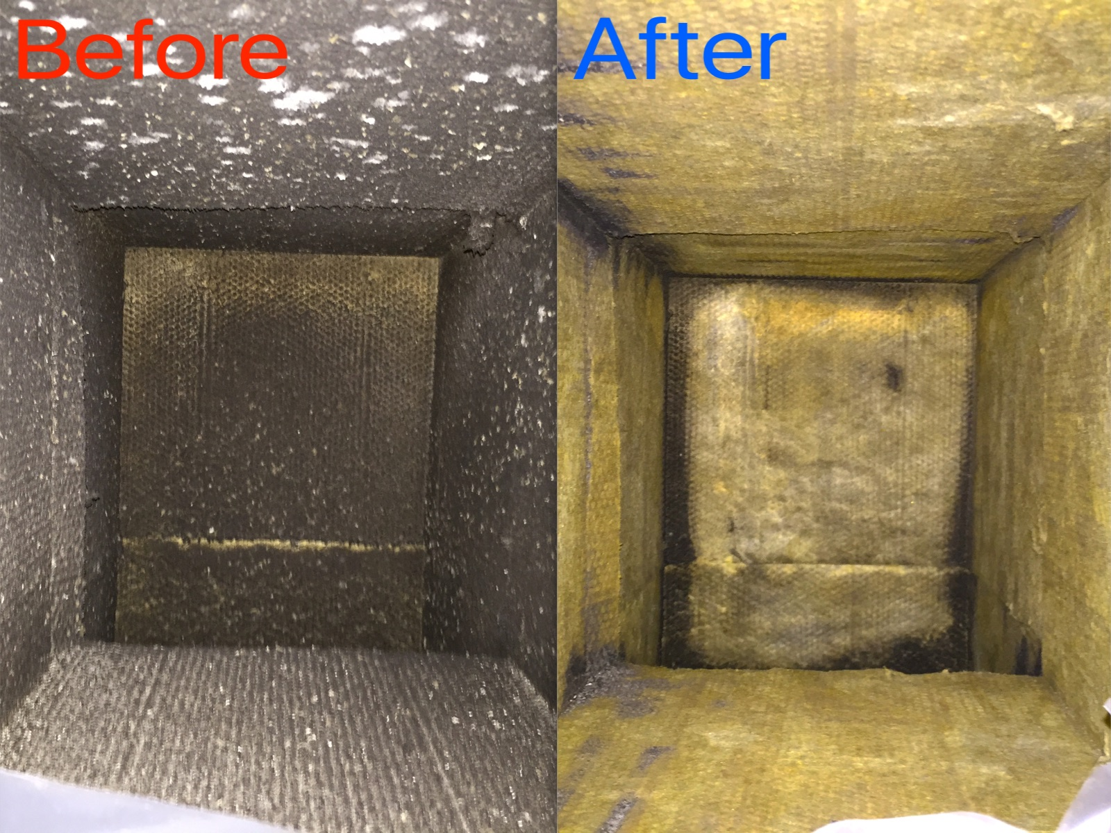 Ductboard Supply Plenum Before & After