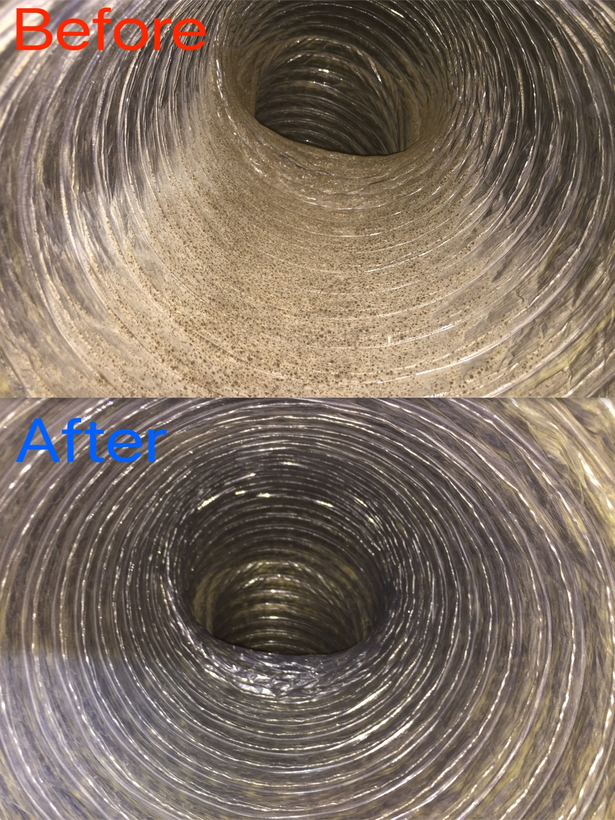 Flex Duct Before & After