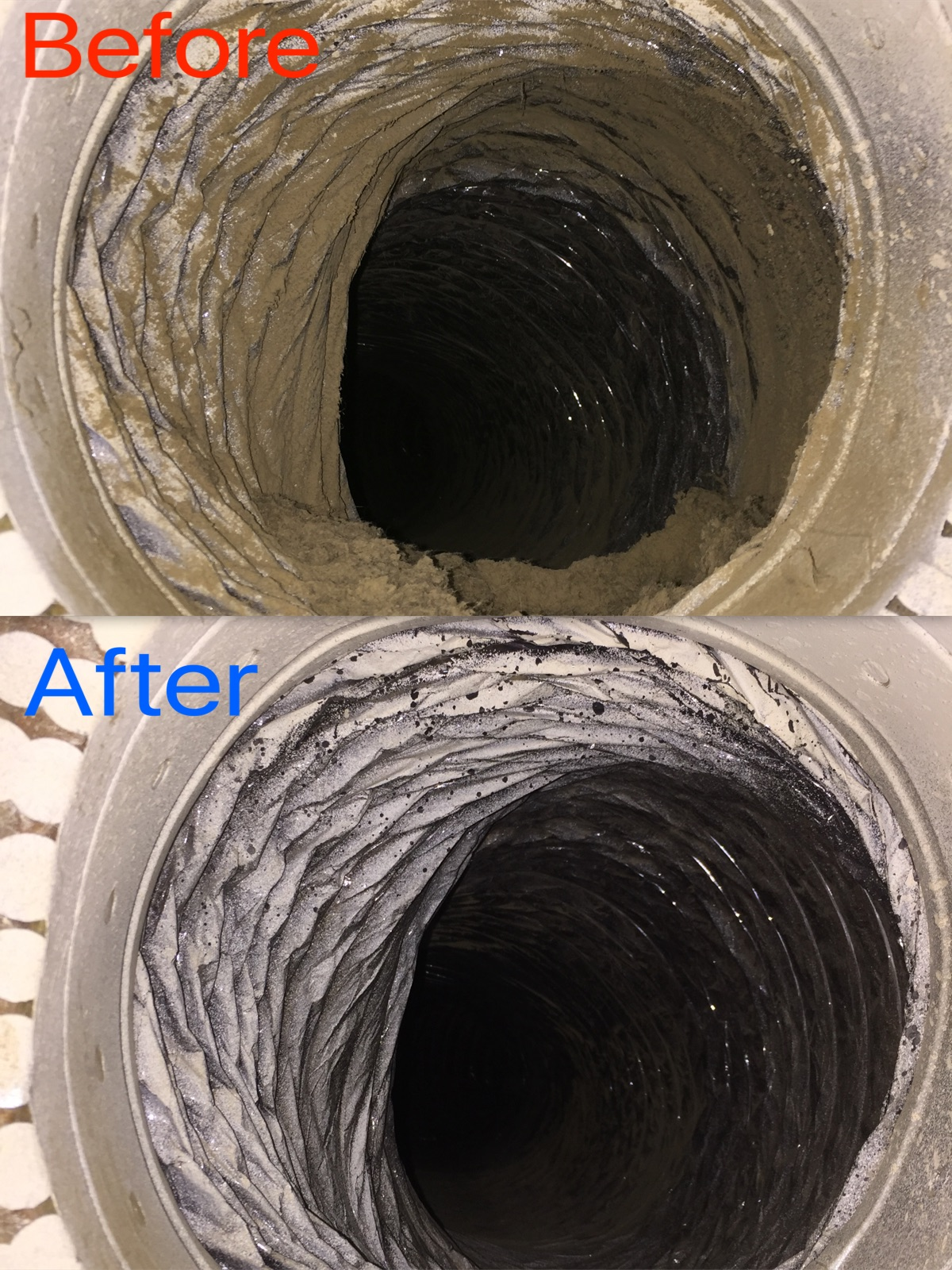 Return Flex Duct Before & After