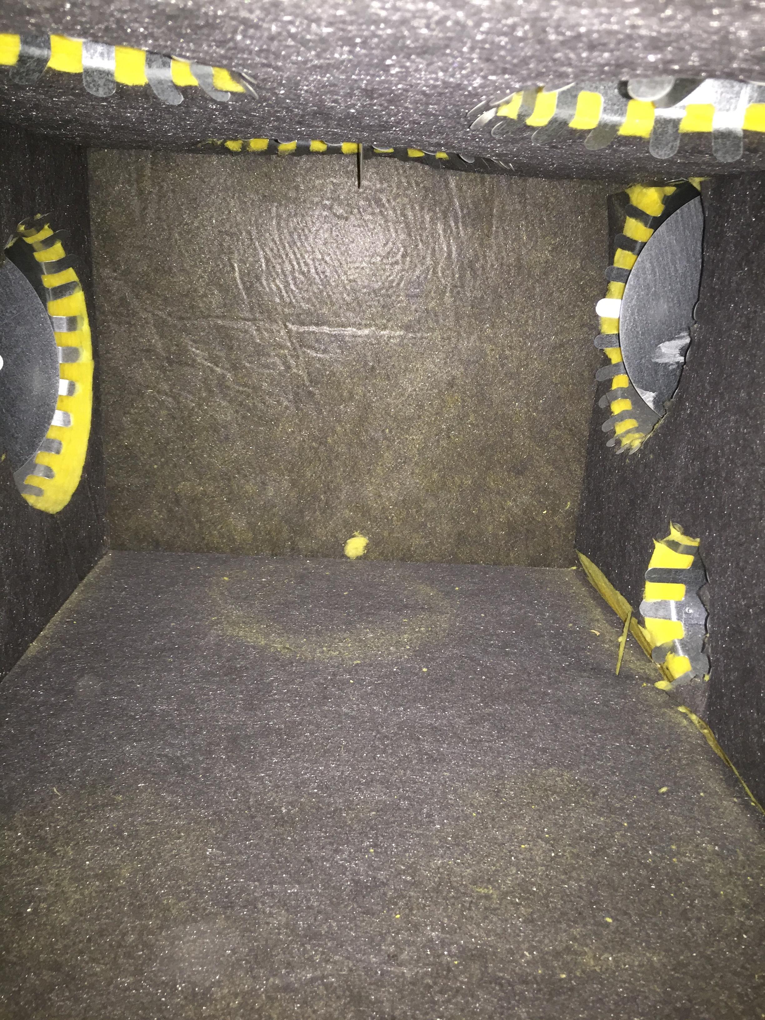 R-8 Plenum with R-6 Colars - yellow is exposed fiberglass