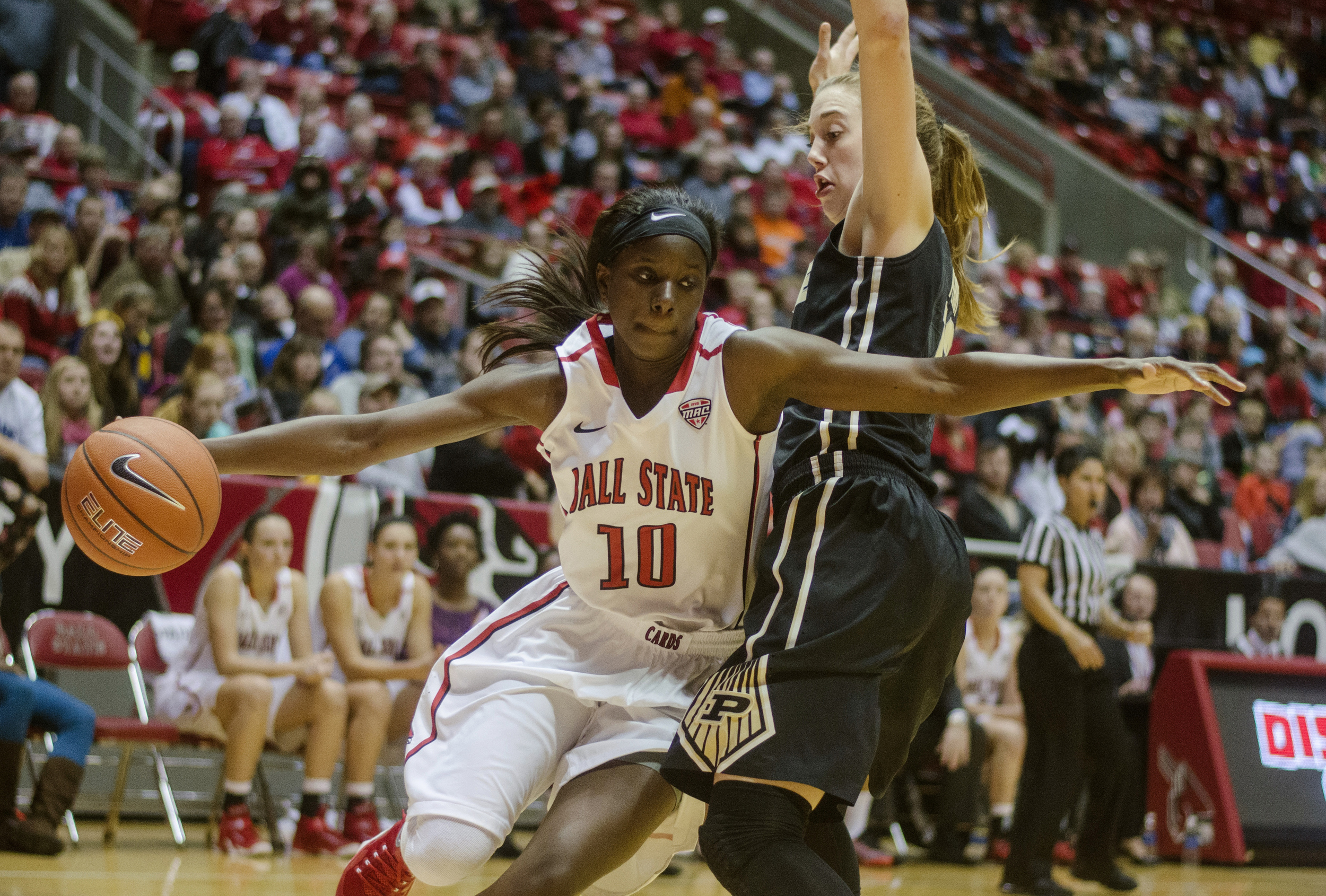Guard Calyn Hosea attempts to get past a Purdue player during the game on Nov. 14, 2014, at Worthen Arena. Hosea averaged 3.5 points in 31 games.