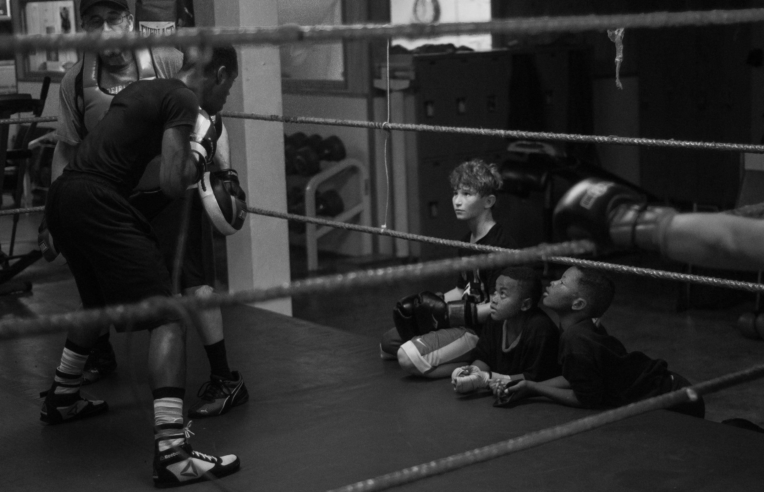 Members of the gym train three times a week from 5–8 p.m. in preparation for their upcoming fights. Spikes works out for the full three hours the gym is open. Community members — including children — are welcome to observe training sessions to see what the gym has to offer.