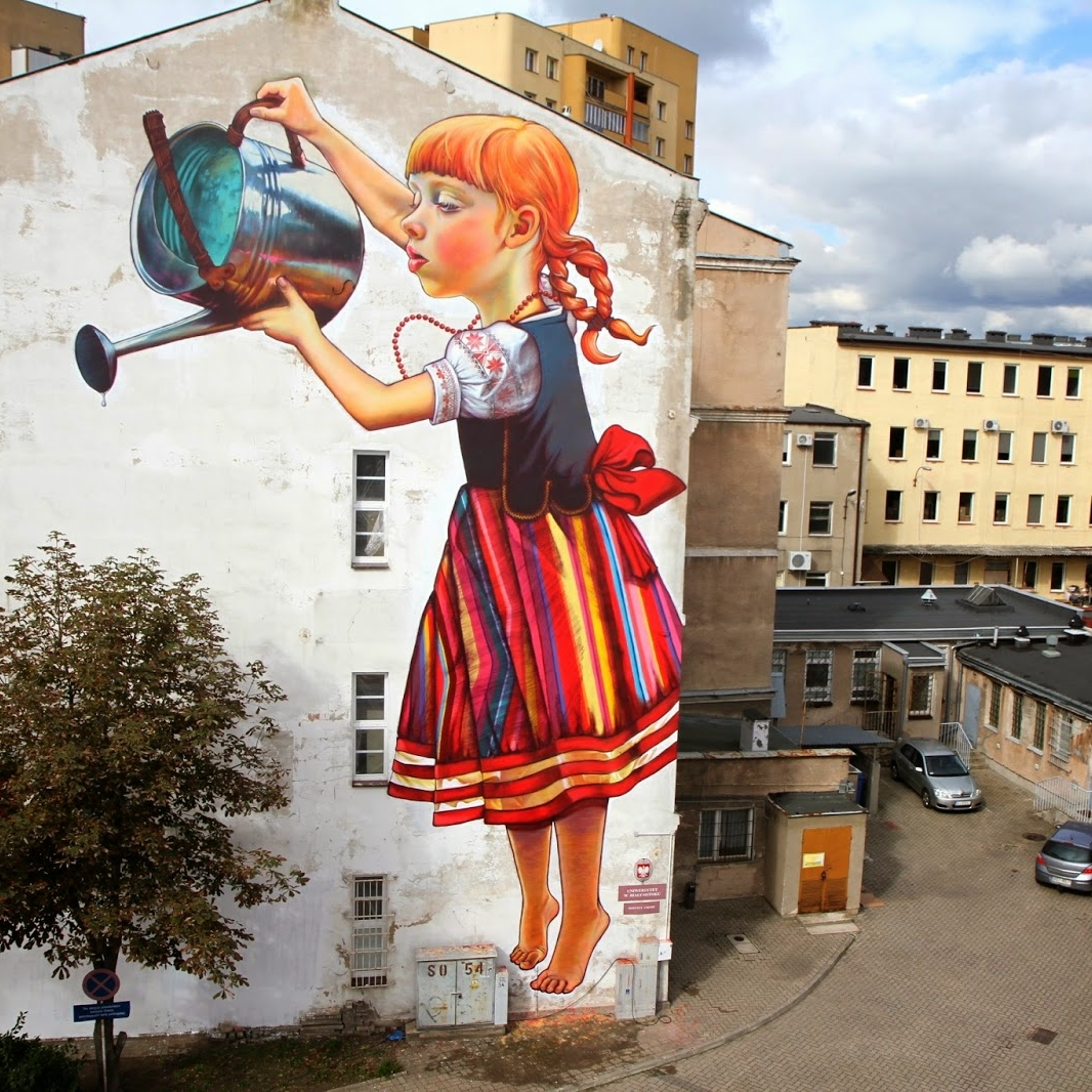 """Legend of the Giants"" by Polish artist and graphic designer Natalia Rak. Białystok, Poland."