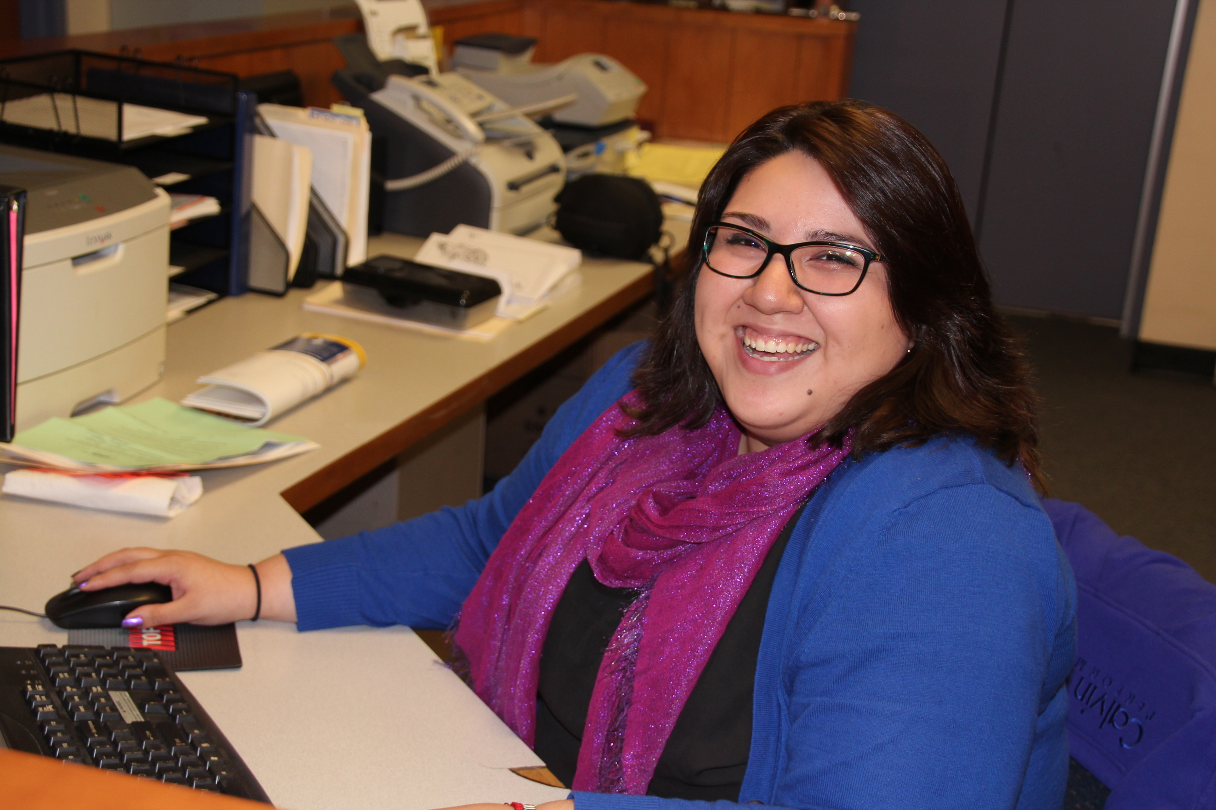 Evelyn works both as the front desk assistant and the MAP Program Assistant.