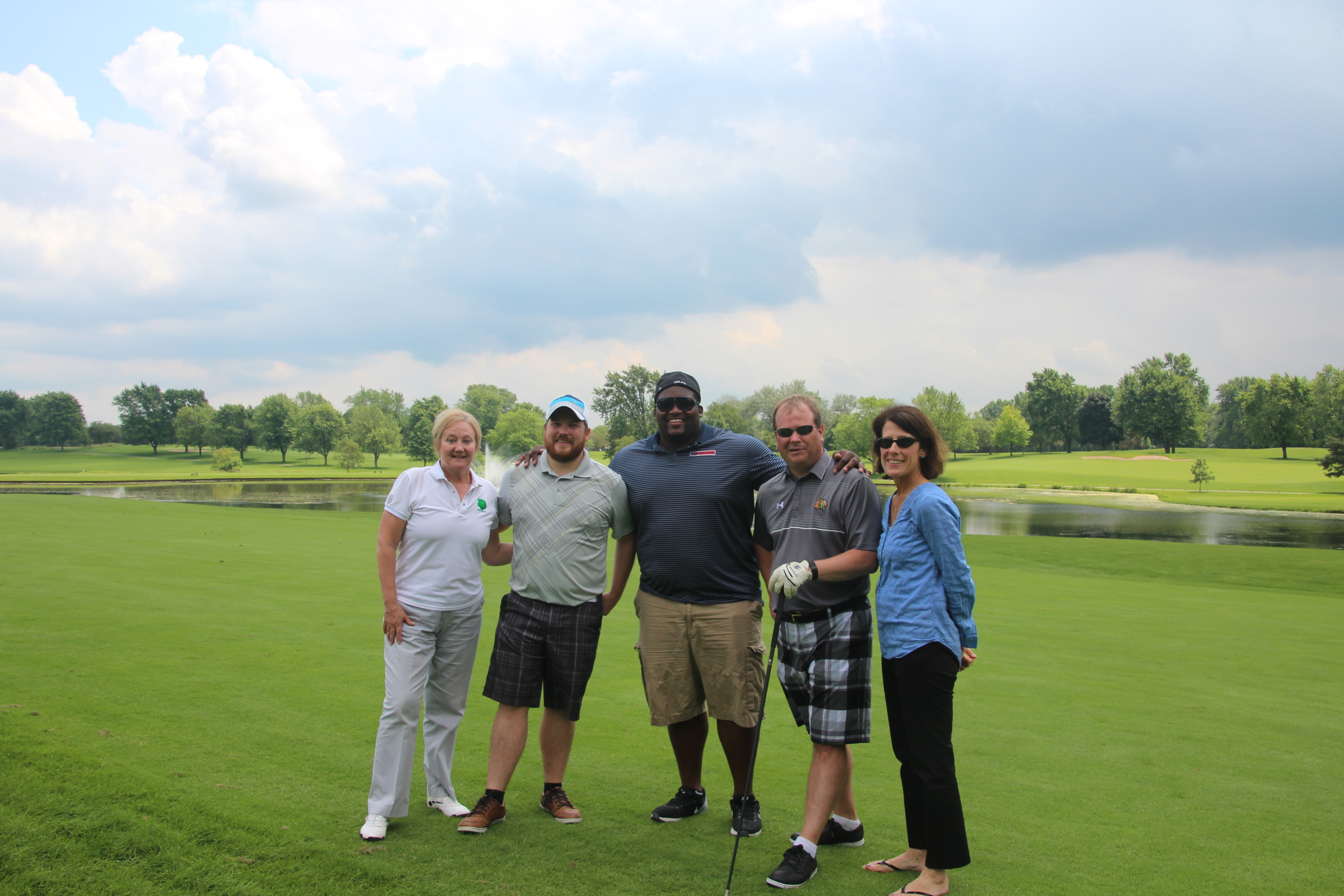 Outing Gold Sponsor, Coca-Cola Foursome.Diane Wallace (L), won women's longest drive on Hole #11