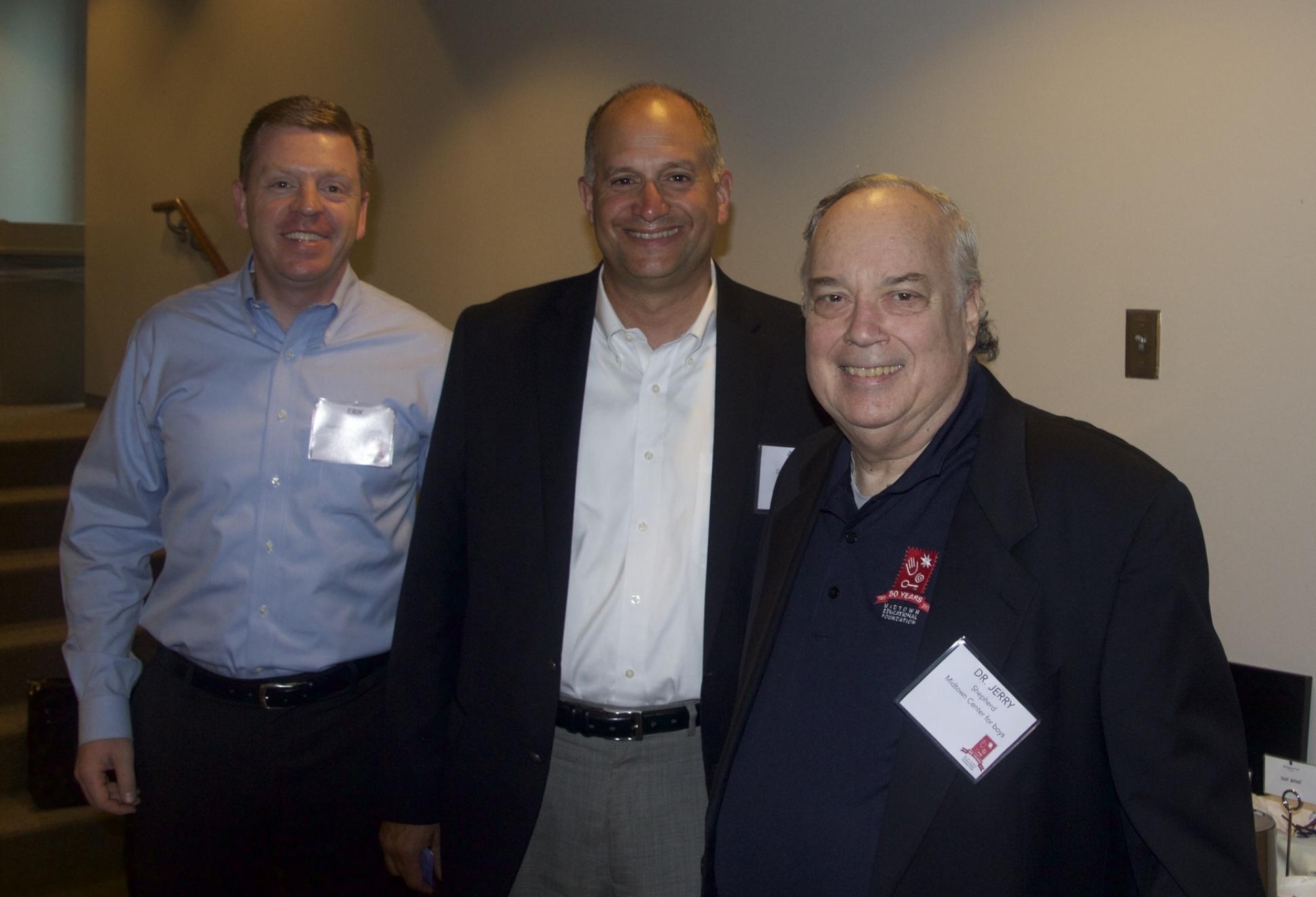 Midtown Advancement Council members Erik Ojala and Andy Clark with Midtown Center Director, Dr. Jerry Shepherd