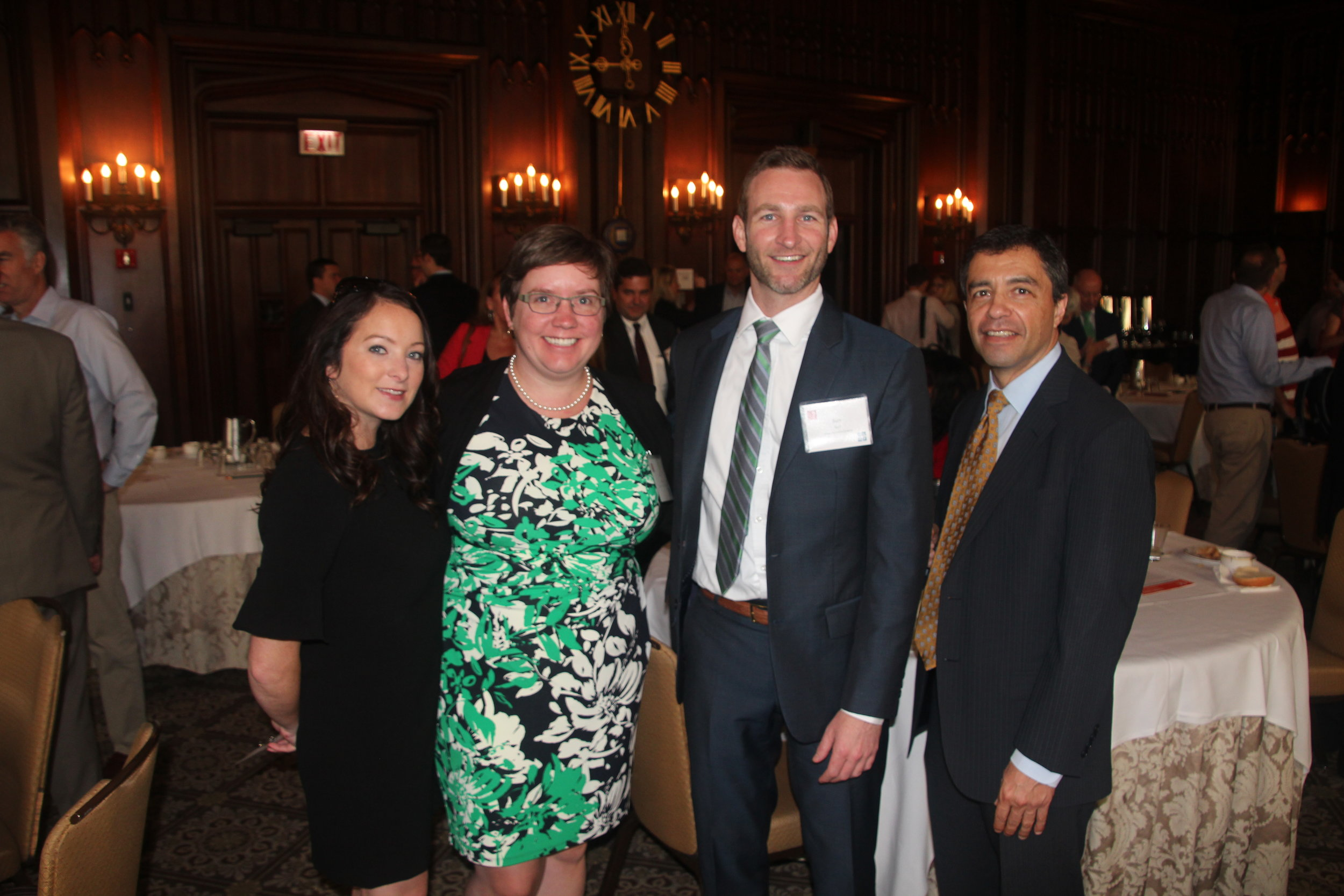 Auxiliary Board Members Kristin Kipp &Beth Zachara with Midtown Advancement Council Co-Chair Sam Bell and MEF Board Member Jim Palos
