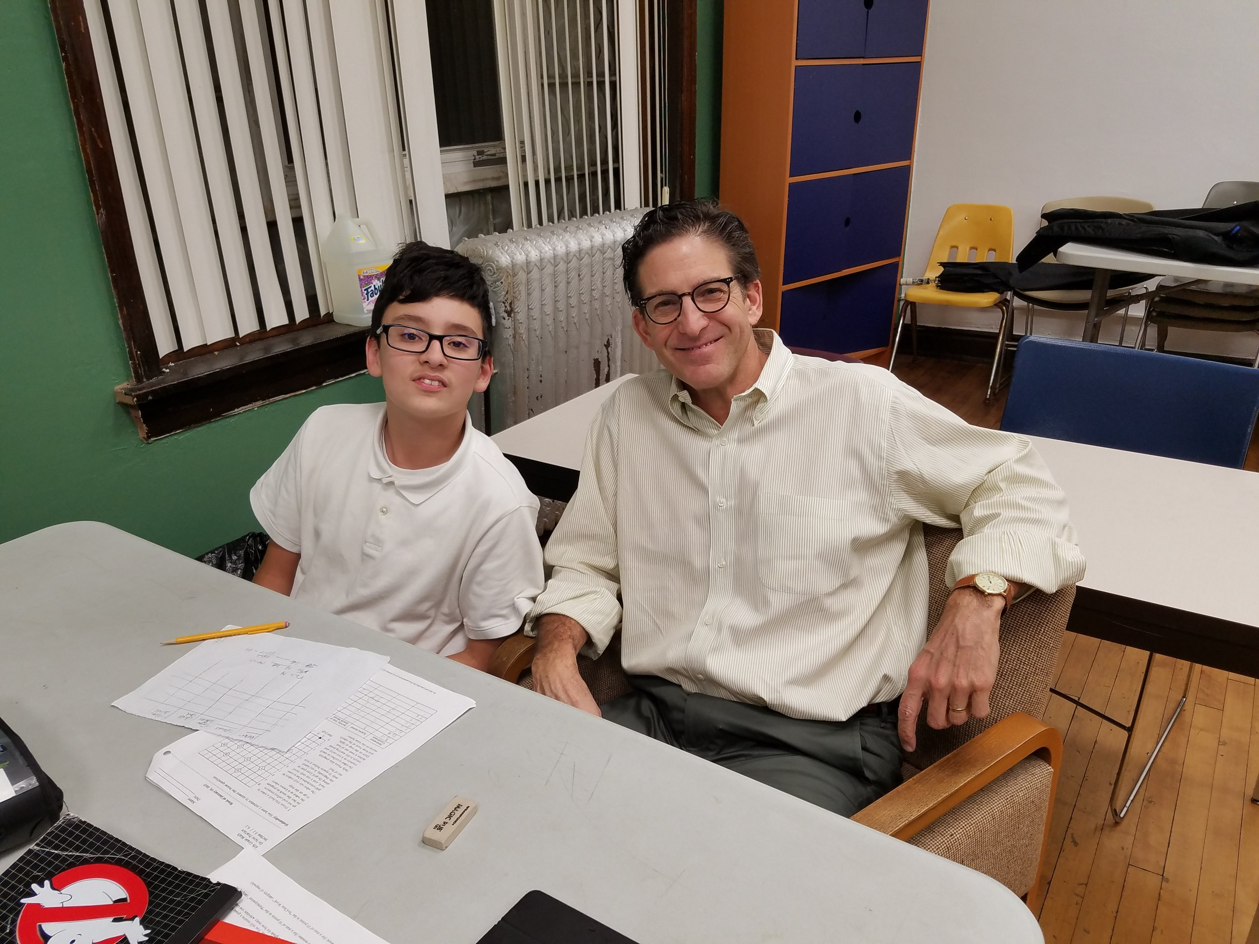 Mentor and Midtown Volunteer of the Year, Steve Hardy, with his mentee Antonio.