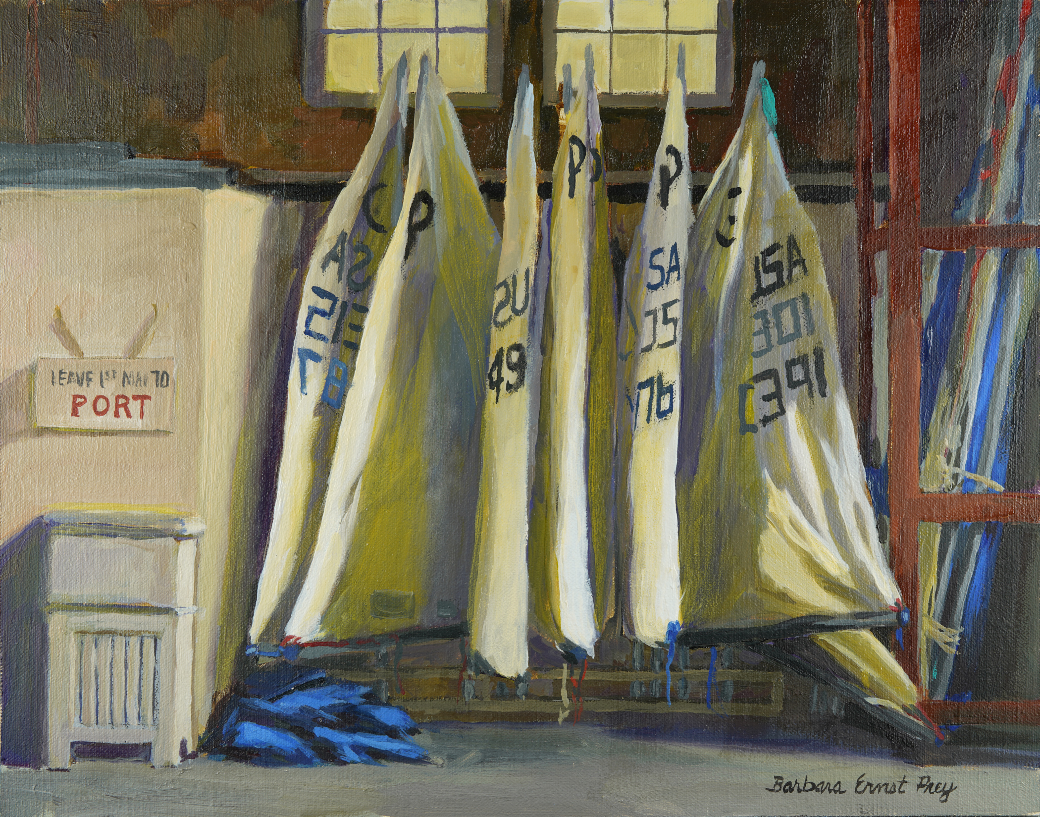 Sail Storage, 2018, Oil on panel, 11 x 14 inches
