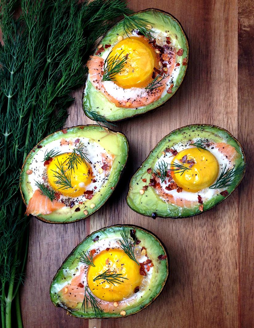 Avocado Stuffed With Smoked Salmon By Grokgrub