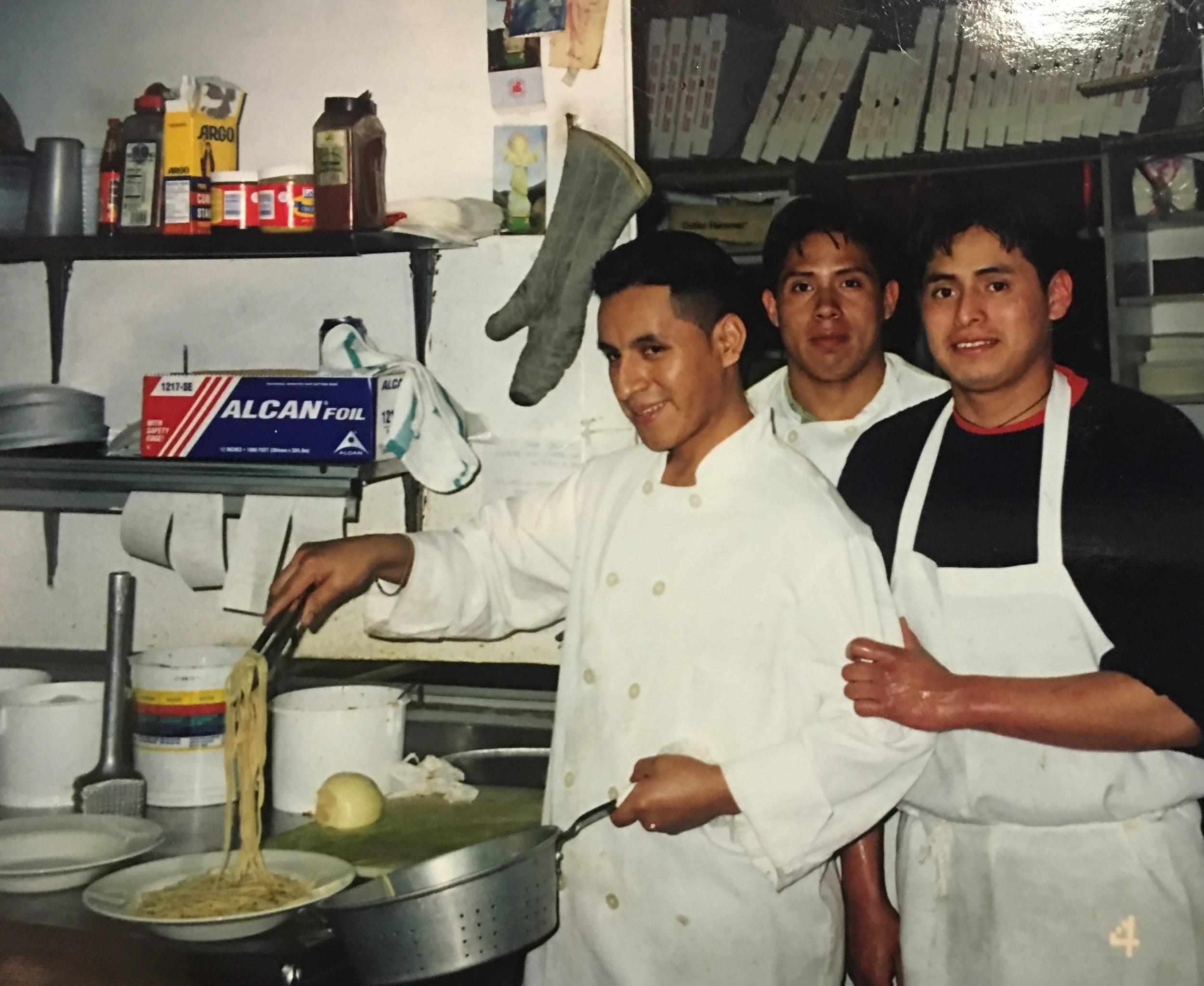 2002:  Photograph of Chef Jorge who has been with Personal Touch Experience for 27 years.